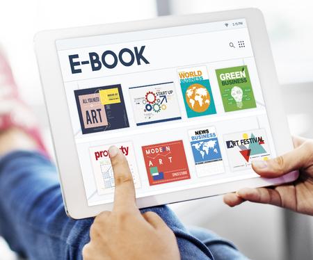 E-book digital magazine collection publishment download graphic