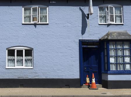 light blue Residential house Zdjęcie Seryjne - 90816049