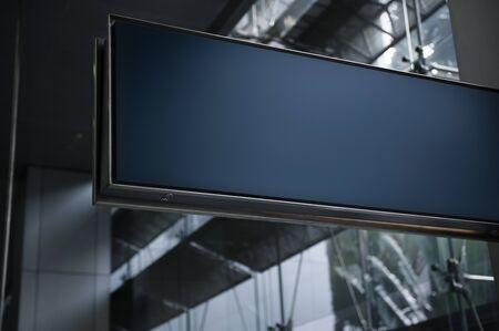 空港の空のボード 写真素材
