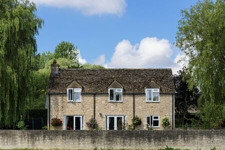 Brick house in a countryside Stock Photo