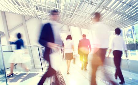 香港のビジネスマン通勤コンセプト