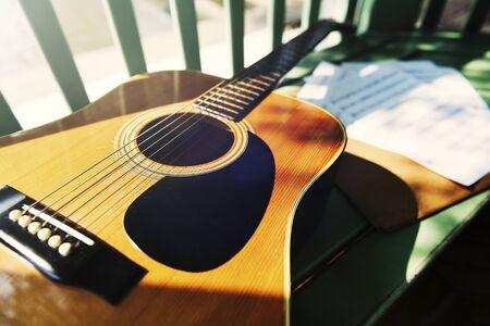 An accoustic guitar