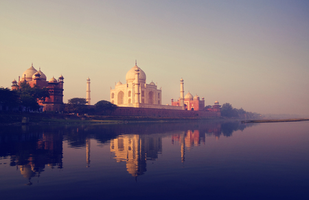 The Taj Mahal in dusk