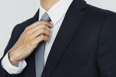Caucasian businessman in the office shoot  写真素材