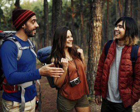 Campers on an adventure Banco de Imagens