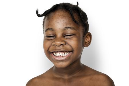 아프리카 아이 초상화 촬영 식 미소 스톡 콘텐츠