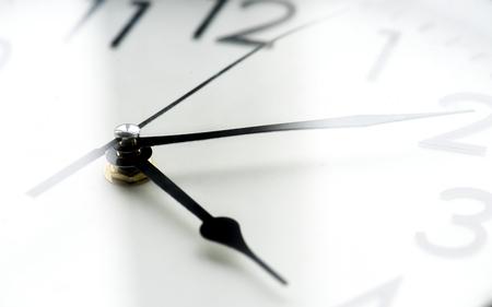 Macro shot of clock