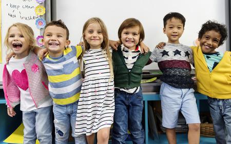 Happy kids at elementary school 免版税图像 - 90711819