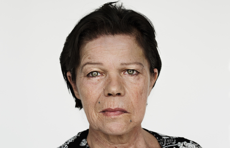 Worldface-Finnish woman in a white background