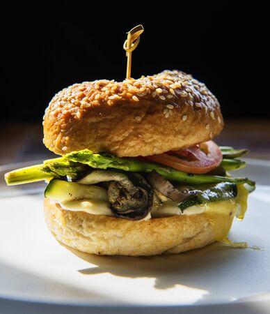 A big hamburger Stock Photo