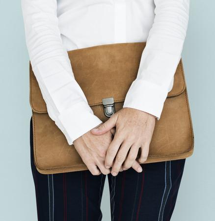 Formal Wear Brown Folder Bag Concept Stock Photo