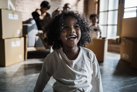 Cheerful African kid