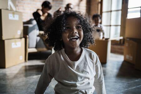 Vrolijk Afrikaans kind Stockfoto