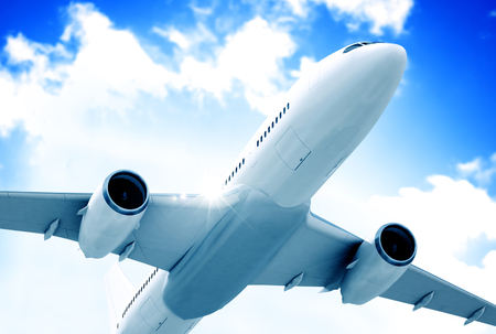 비행 비행기의 그림