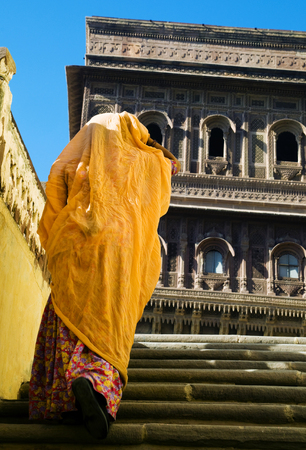 Hindu lady in Mehrangarh Fort, Rajasthan, India.