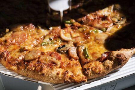 피자 닫습니다 스톡 콘텐츠