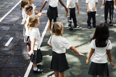 초등 학생의 행복한 아이들 스톡 콘텐츠