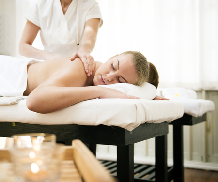 Spa salon therapy treatment Stock Photo