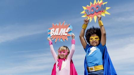 어린이 어린 영웅 개념
