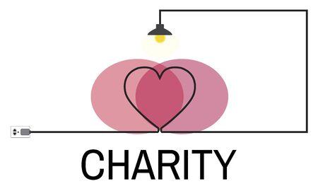 Illustration de la charité Banque d'images - 90813491