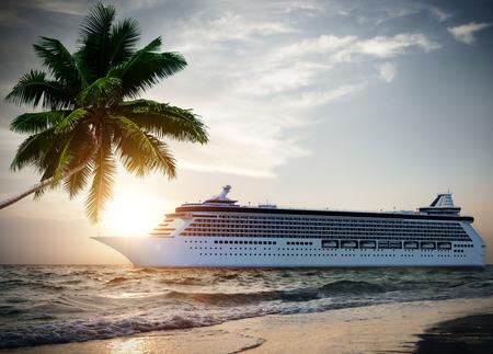 Cruise ship near the beach