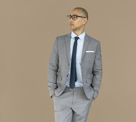 スタジオモデルシュートレースビジネスマン