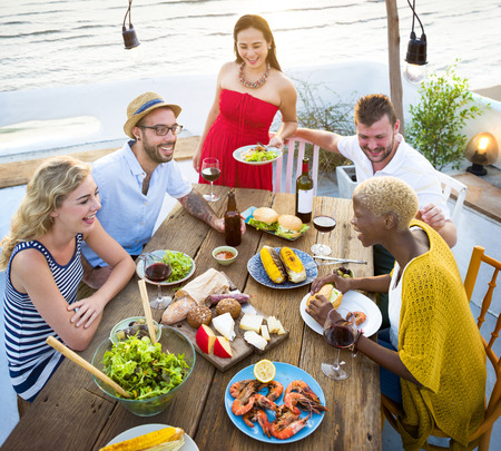 Group of diverse friends are gathering together Stock Photo - 90799490