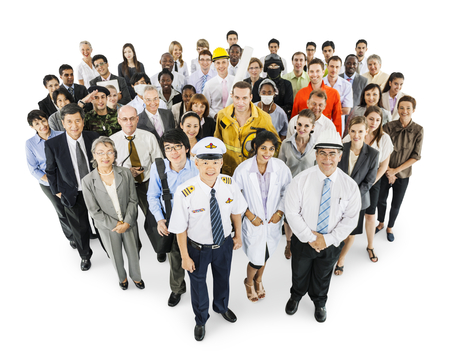 Large group of professionals Stock Photo