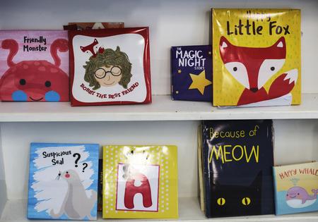 Children's books at elementary school library