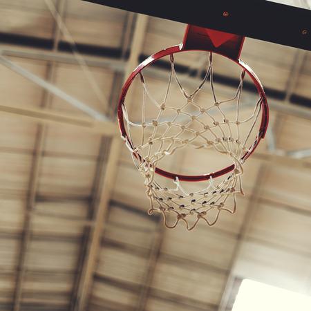 Young basketball player shoot