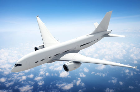 Illustration of a flying airplane