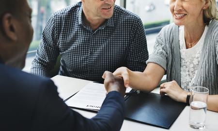 Business Communication Connection People Concept Banque d'images