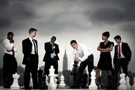 Group of diverse business people are planning on business strategy