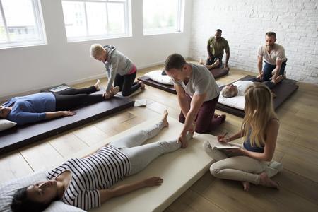 Health Wellness Massage Training Concept Stock Photo