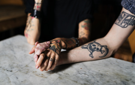 Tattoo Hands Hold Together Friendship