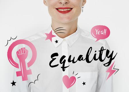 フェミニズム平等自信女性権利 写真素材