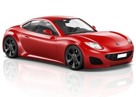 赤い車のイラスト