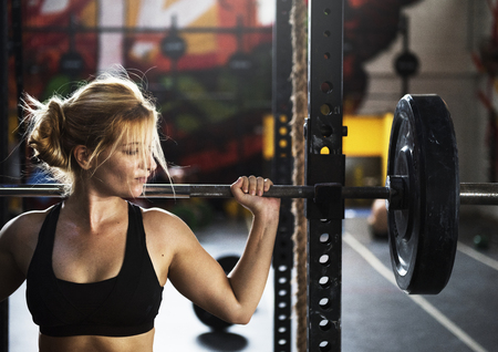 Strong woman at the gym Banco de Imagens