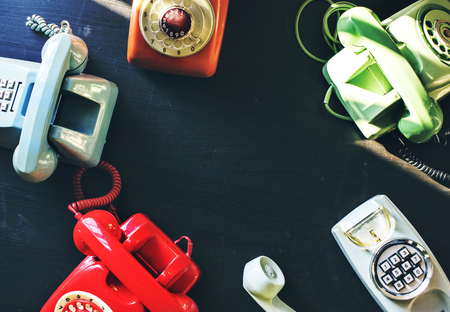 Vintage colourful telephone shoot
