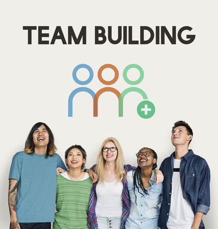 People with team building concept