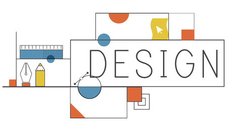Design illustration Stock Photo