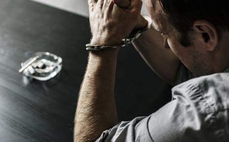 Diverse people crime shoot  Stockfoto