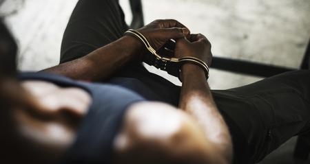 Diverses personnes tirent du crime Banque d'images
