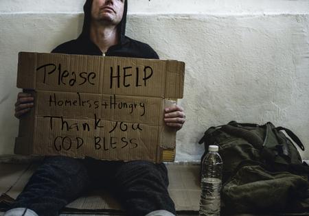 ホームレスの男 写真素材