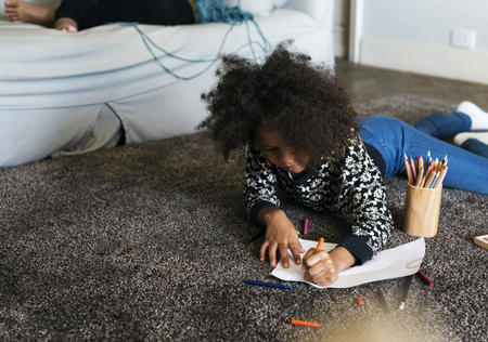 African child spending sometime drawing Stock fotó - 91616853