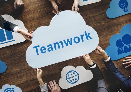 Teamwork van het bedrijfsleven