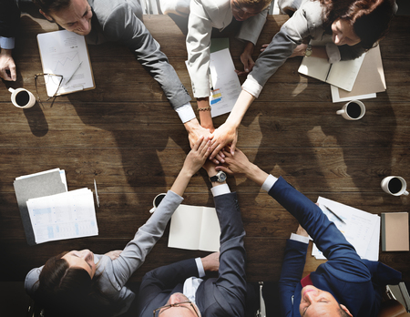 Business people are joining hands together Stock Photo