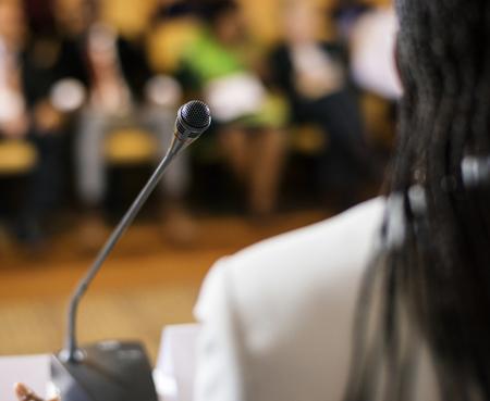 Speaker Presentation International Conference Partnership Banque d'images