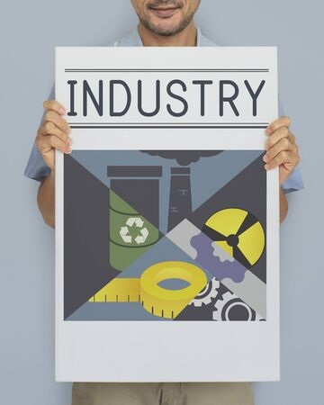 Business Industry Manufacturing Factory Concept Standard-Bild