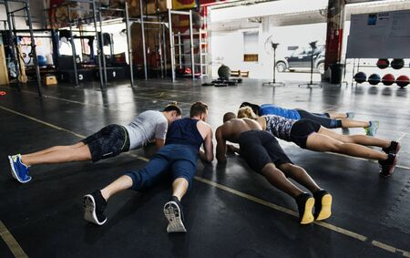 Crossfit group at the gym